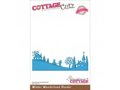 Cottage Cutz - WINTER WONDERLAND BORDER - kovové vyřezávací šablony