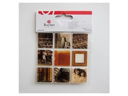 Rayher - MEMORIES - epoxy sticker - samolepky