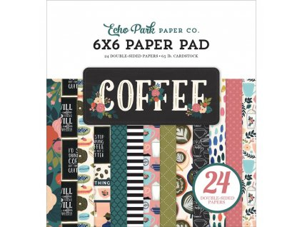 "Echo Park - COFFEE - 6"" sada čtvrtek"
