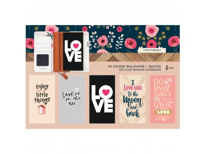 Websters Pages - Love Quotes / samolepky na desky deníčků 11 x 21 cm