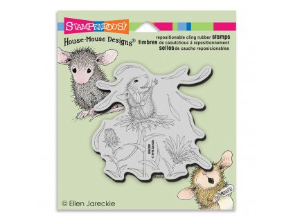 Stampendous HMCQ05 Cling Rubber Stamp House Mouse She Loves Me 29645 p