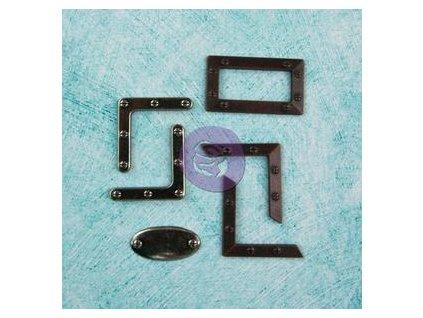 Prima - JUNKYARD FINDINGS / VINTAGE METAL CORNERS - kovové ozdoby pro scrapbook
