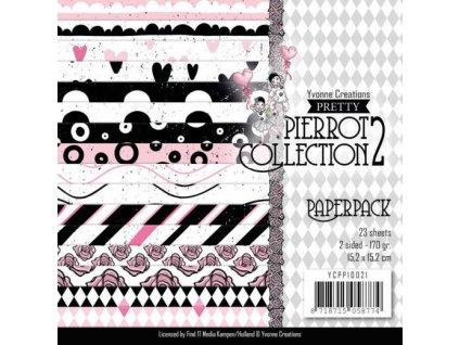 "Yvonne Creations - PRETTY PIERROT 2 - 6"" sada čtvrtek"