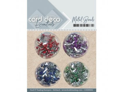 Card deco - METAL BRADS -  brads, svorky