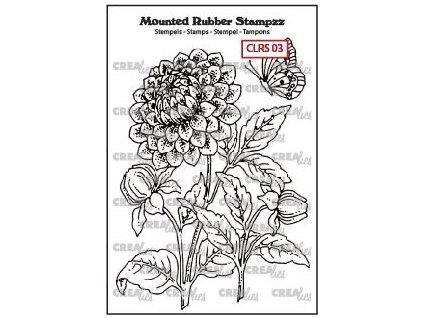 Crealies - DAHLIA - cling gumové razítko