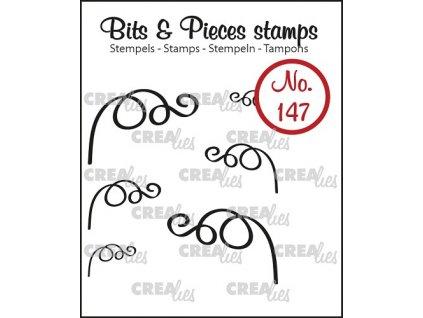 Crealies - BITS & PIECES / 147 / listy - silikonová razítka