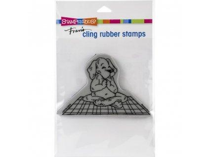 Stampendous - YOGA DOG - cling gumové razítko