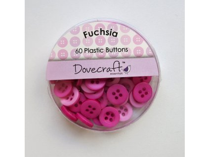 Dovecraft - FUCHSIA - knoflíky