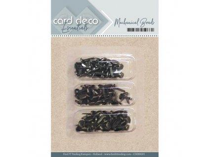 Card deco - MECHANICAL BRADS -  brads, svorky