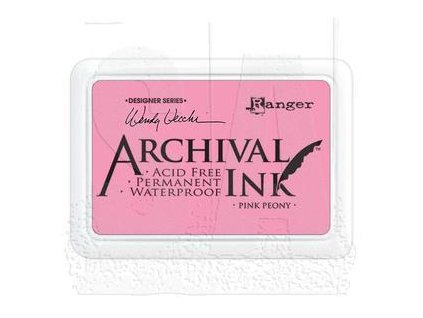 wendy vecchi archival ink pad pink peony aid45649