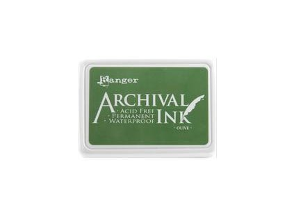 archival ink pad olive