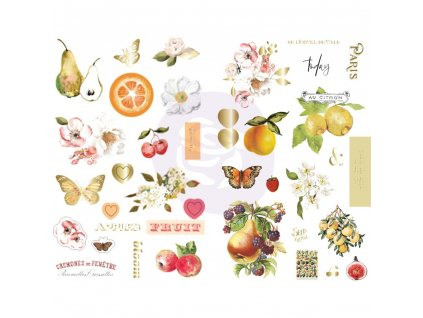 Prima Marketing - FRUIT PARADISE / CHIPBOARD - kartonové samolepky