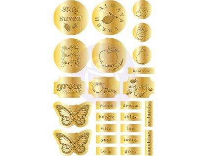 Prima Marketing - FRUIT PARADISE - zlaté samolepky