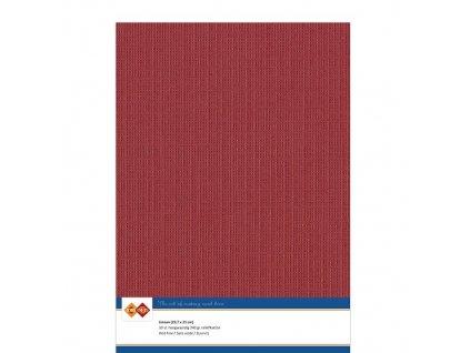 Card Deco - LINEN / KERSTROOD 434 - A4, strukturované čtvrtky, 10 ks