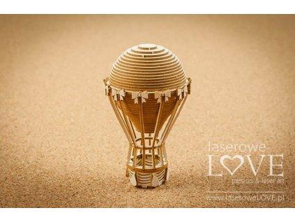Laserowe LOVE - Balon 3D - Vintage Gentelman - kartonové výseky, LA19153