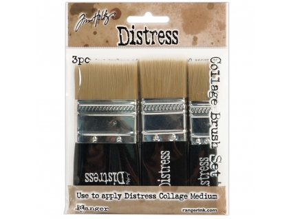 Tim Holtz - COLLAGE BRUSH SET - 3x štětec 4,3 cm + 3 cm + 1,7 cm