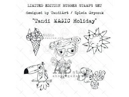 id 44 rubber stamps set tandi magic holiday