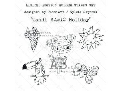 id 44 rubber stamps set tandi magic holiday