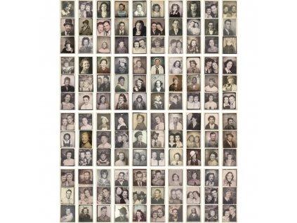 Tim Holtz - PHOTOBOOTH - potištěné kartičky, portréty