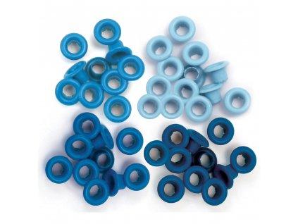 WeR - BLUE - průchodky / eyelets - 3/16
