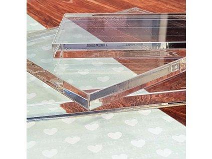 HP - akrylový blok 6 x 6 x 1 cm