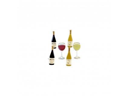 Eyelet Outlet - WINE - 12 ks brads / svorky; víno