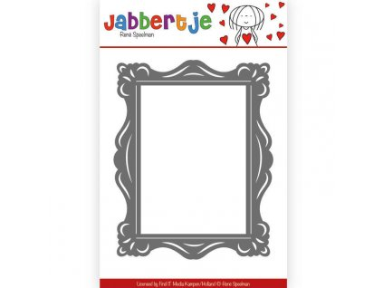 Jabbertje - rámeček - vyřezávací šablona