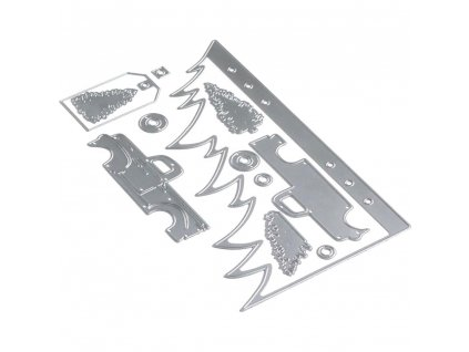 Elizabeth craft designs - 1677 / PLANNER / CHRISTMAS TREE - vyřezávací kovová šablona