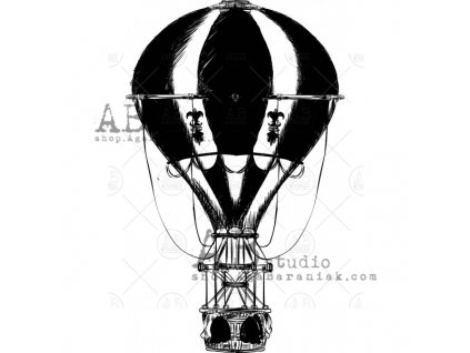 rubber stamp id 320 vintage balloon 320