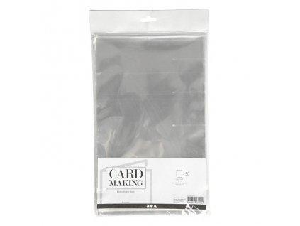 Card Making - celofánové sáčky na velikost  A5 / 14,8 x 21 cm - 50 ks