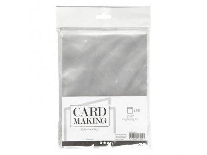 """Card Making - celofánové sáčky na velikost  5 x 5"""" / 12,7 x 12,7 cm - 50 ks"""