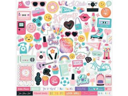 "Echo Park - TEEN SPIRIT GIRL - 12""  samolepicí obrázky"