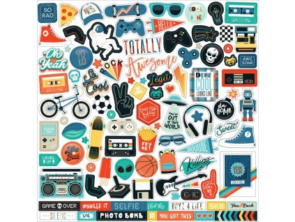 "Echo Park - TEEN SPIRIT BOY - 12""  samolepicí obrázky"