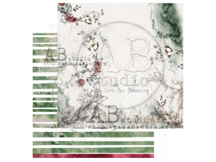 scrapbooking paper breeze of the forest sheet 7 12 x12