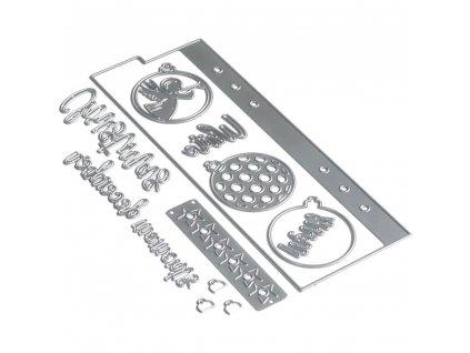 Elizabeth craft designs - 1675 / PLANNER / Essentials 14  - vyřezávací kovová šablona
