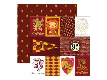 """Harry Potter - Gryffindor House Tag - 12"""" scrapbooková čtvrtka"""