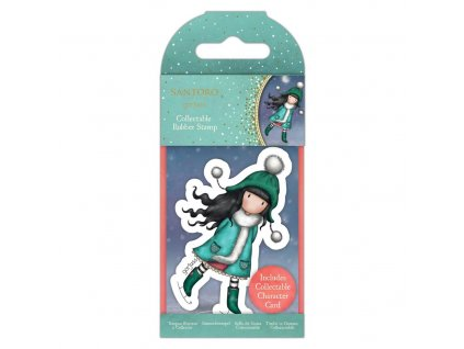 gorjuss collectable mini rubber stamp no77 the ice