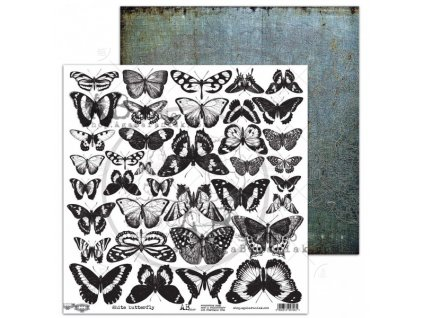 elements white butterfly 12x12