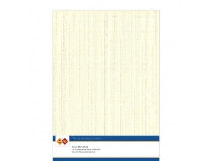 Card Deco - LINEN / CREAM 402 - A4, strukturované čtvrtky, 10 ks