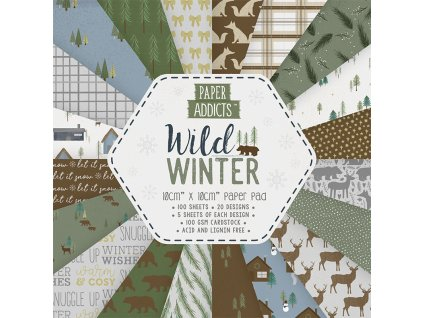paper addicts wild winter 10x10cm paper pad papad0