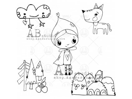rubber stamps set id 378 tandiart fairytale vol 5