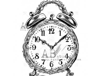rubber stamp id 453 clock