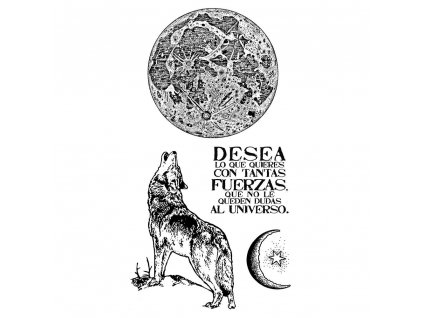 stamperia natural rubber stamp cosmos wolf wtkccr0