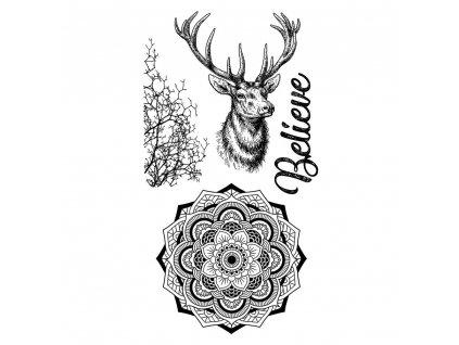stamperia natural rubber stamp cosmos deer wtkccr0