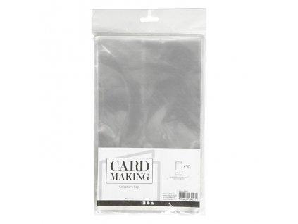 """Card Making - celofánové sáčky na velikost  5x7"""" / 12,7 x 17,8 cm - 50 ks"""