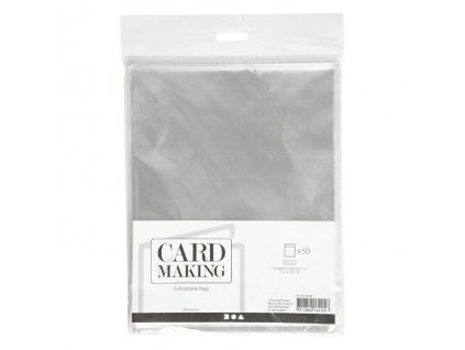 """Card Making - celofánové sáčky na velikost  6x6"""" / 15,2 x 15,2 cm - 50 ks"""