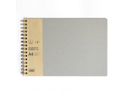 Scrapbook and Portfolio Kraft A4 landscape 750x750