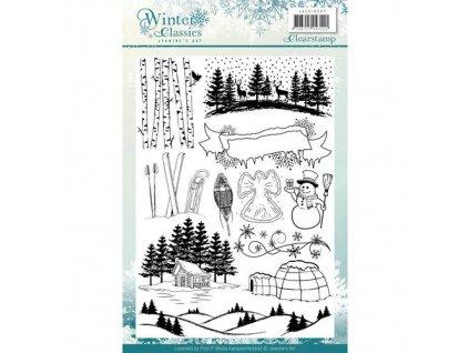 Jeanines Art - Winter Classics - silikonová razítka