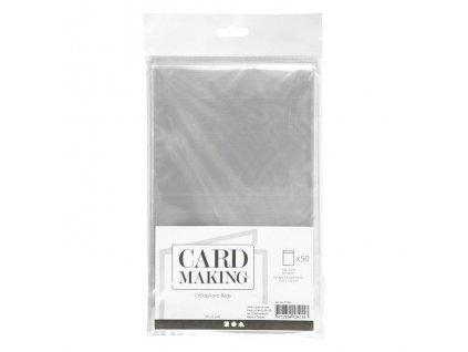 Card Making - Celofánové sáčky na velikost  A6 - 50 KS
