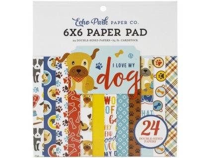 """Echo Park - I LOVE MY DOG - kompletní 6"""" scrapbooková sada"""